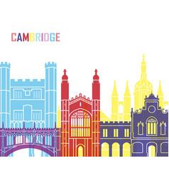 cambridge skyline pop vector image