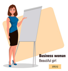 Character beautiful business woman 17 vector