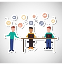Communication and people graphic design vector image vector image