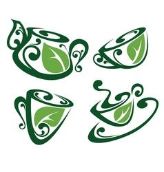 Green tea vector