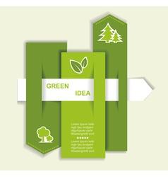 Grey-green website with arrow vector image