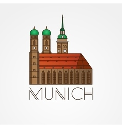 Linear icon of German Towers of vector image vector image