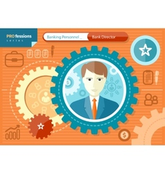 Male bank director profession concept vector