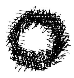 Pencil Hand Drawn Doodle Border vector image vector image