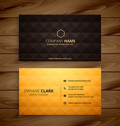 Premium diamond shape golden business card vector