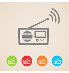 radio icons vector image