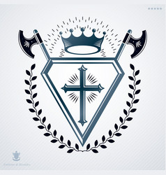 Retro vintage design element heraldic royal vector