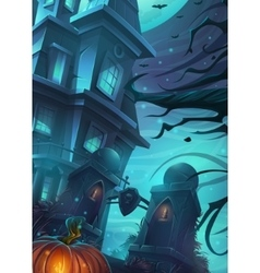 Scary horrible Halloween vector image