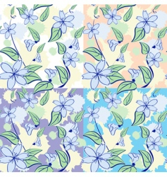 seamless floral pattern in pas vector image