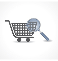 Searching for shopping concept vector image