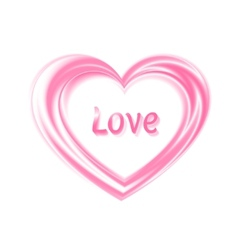 silken heart vector image vector image
