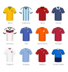 Soccer uniform or football of national teams vector image vector image