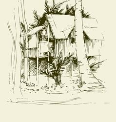 Tai bungalo vector image vector image