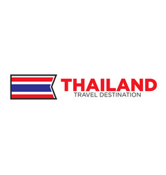 Thailand travel destination sign vector