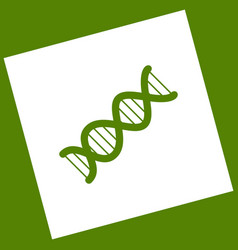 The dna sign white icon obtained as a vector