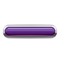 Violet rectangular button icon cartoon style vector