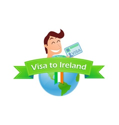 Visa to ireland vector