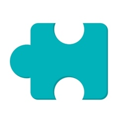 Puzzle piece icon vector