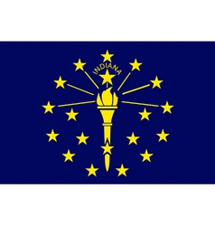 Indianan state flag vector image