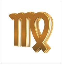 Golden sign virgo vector