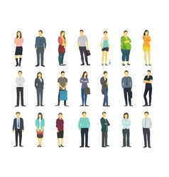 Set many ordinary modern people adult human male vector