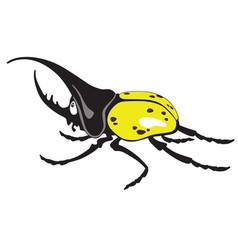 cartoon giant hercules beetle vector image