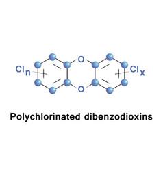 polychlorinated dibenzodioxins compounds vector image