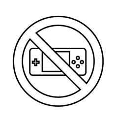 game control with denied sign vector image