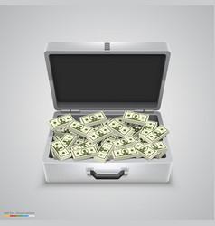 outdoor metal briefcase dollar vector image