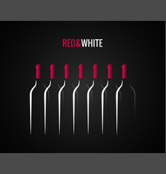 wine bottle concept design background vector image