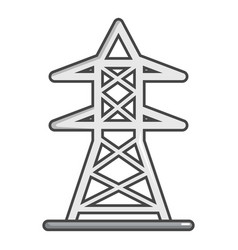 electric tower icon cartoon style vector image