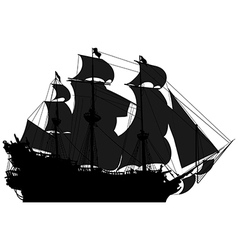 Marine theme silhouette sailboat vector