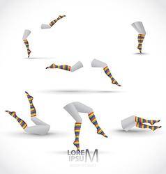 Legs and socks vector
