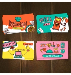 Hotel cards set vector