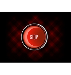Stop button vector