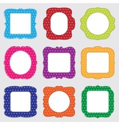 polka dot frames vector image