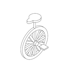 Unicycle icon isometric 3d vector