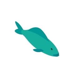 Trout fish icon isometric 3d style vector