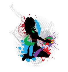 a music DJ vector image