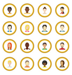 avatar icon circle vector image vector image