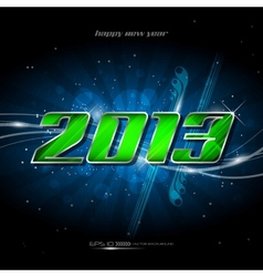 banner happy new year 2013 vector image
