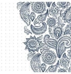 Beautiful vintage floral ornament vector
