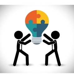 Business teamwork and leadership vector