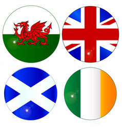 Buttons of the uk and eire vector