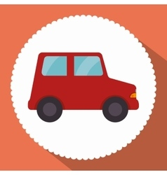 Car red toy icon vector