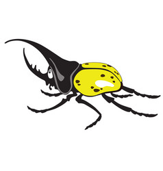Cartoon giant hercules beetle vector