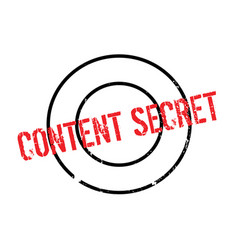 Content secret rubber stamp vector