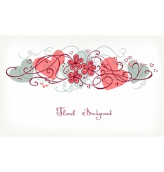Cute Floral Background Retro Card vector image vector image
