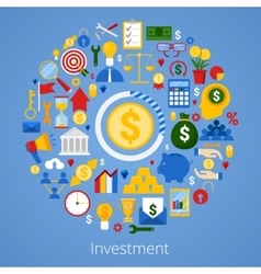 Financial Investment Icons Set vector image vector image