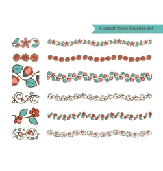 Floral pattern brushes vector